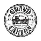 Grand Canyon grunge rubber stamp