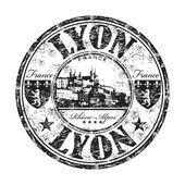 Lyon grunge rubber stamp