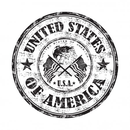 United States of America rubber stamp