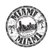 Miami Florida grunge rubber stamp