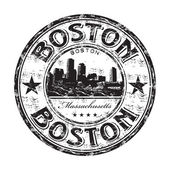 Boston grunge rubber stamp