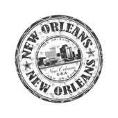 New Orleans grunge rubber stamp