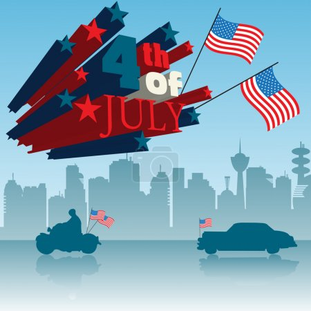 Fourth of July concept
