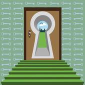 Exit keyhole
