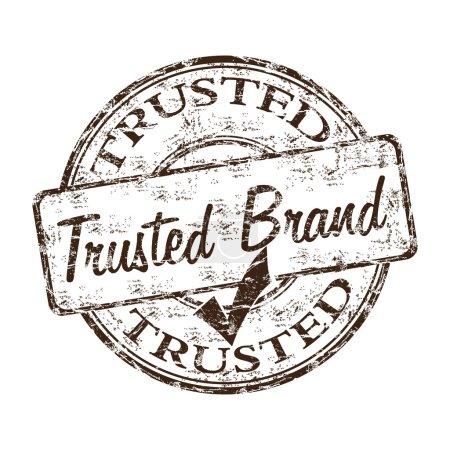 Illustration pour Grunge tampon caoutchouc avec le texte marque de confiance écrit à l'intérieur du tampon - image libre de droit