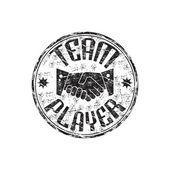 Team player grunge rubber stamp