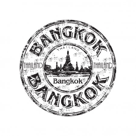 Bangkok grunge rubber stamp