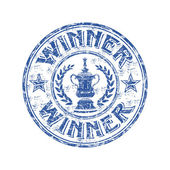 Winner grunge rubber stamp