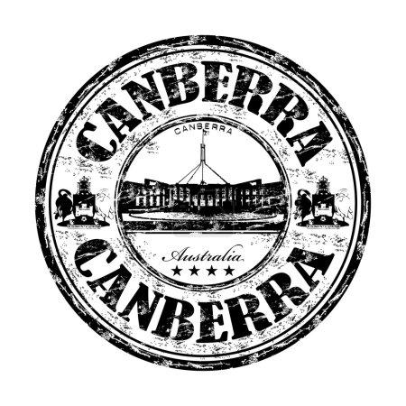 Canberra grunge rubber stamp