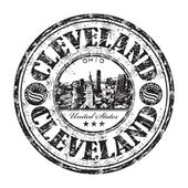 Cleveland Ohio grunge rubber stamp
