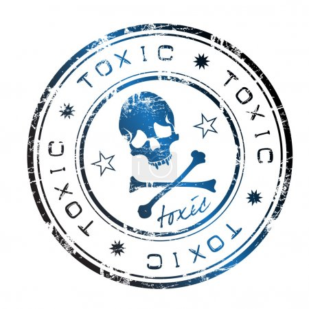 Toxic grunge rubber stamp