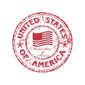 USA grunge rubber stamp