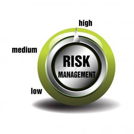 Illustration pour Abstrait coloré avec bouton de gestion des risques isolé sur fond blanc - image libre de droit