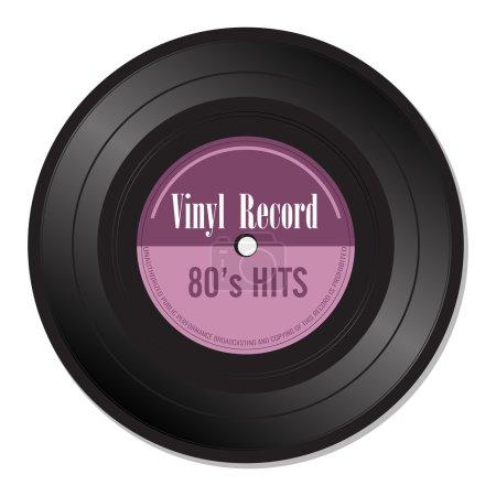 Eighties vinyl record