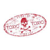 Toxic grunge rubber stamp