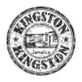 Kingston city grunge rubber stamp