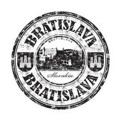 Bratislava grunge razítko