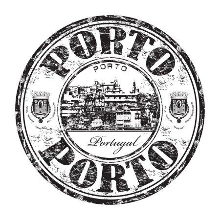 Porto grunge rubber stamp