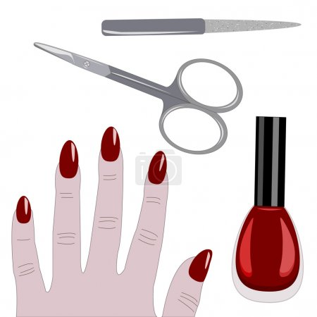 Manicure set and hand