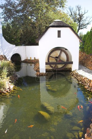 Old watermill next to winery on Plaisir de Merle, South Africa