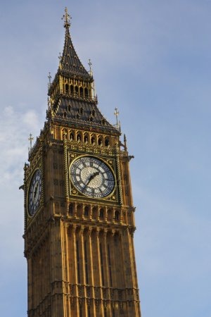 Tower and clock in London.