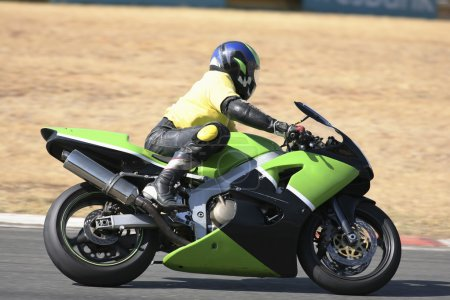 High speed Superbike on the circuit