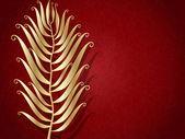 Abstract Metal feather