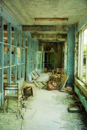 Corridor in abandoned school