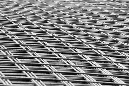 welded mesh of steel reinforcement
