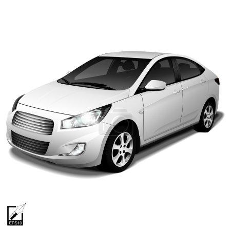 Illustration pour Réaliste de voiture isolée avec shadow pour votre conception - image libre de droit