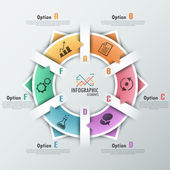 Moderní infografiky možnosti nápis
