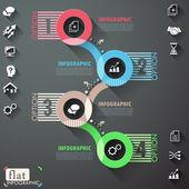 Plochá infographic design