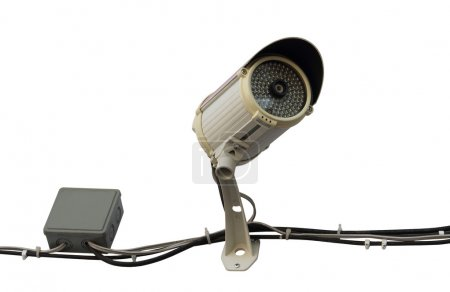 Security Camera isolated over white background