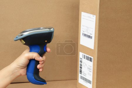 Bluetooth Barcode and QR Code Scanner, showing scan barcode lebe