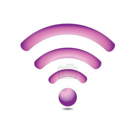 Pink wireless icon (Wi-fi)