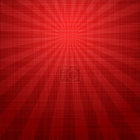 Illustration for Abstract grunge red background with rays - Royalty Free Image