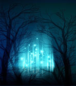 Abstract background Trees at night