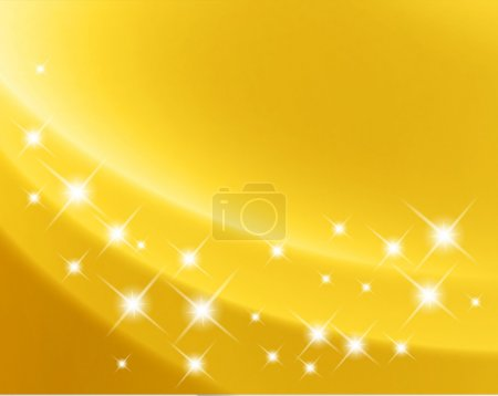 Abstract gold starry background