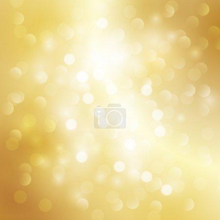 Illustration for Gold bokeh background - Royalty Free Image