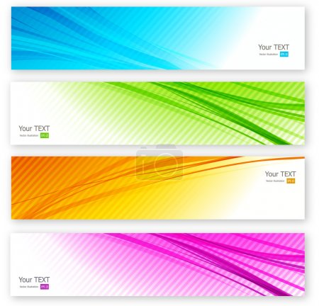 Illustration for Set of color banner. Four colors - Royalty Free Image