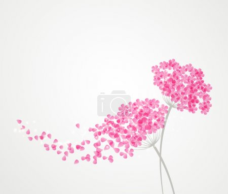 Illustration for Vector illustration floral background - Royalty Free Image