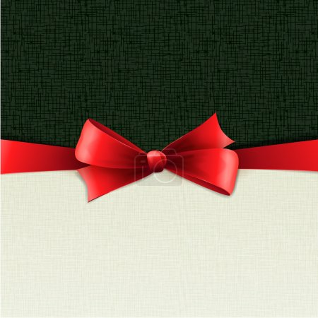 Holiday background with red bow