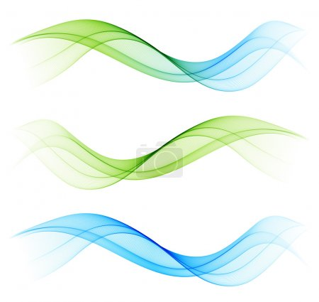 Illustration for Abstract color wave design element - Royalty Free Image