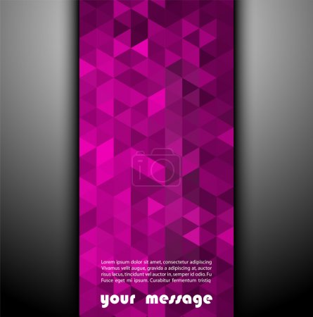 Abstract template background with triangle shapes