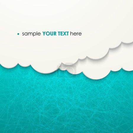 Illustration pour Papier nuages fond Illustration vectorielle EPS 10 - image libre de droit