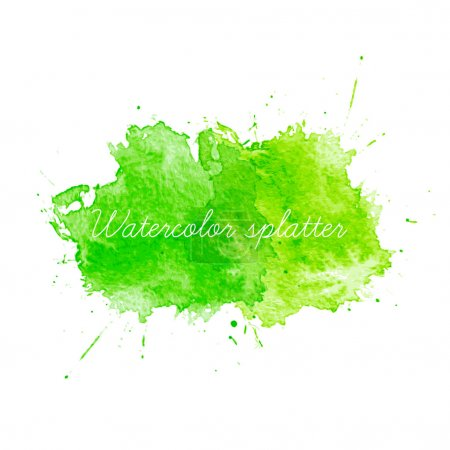 Illustration for Green Watercolor splatters. Vector illustration - Royalty Free Image