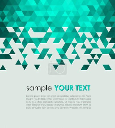 Illustration for Abstract technology background  with triangle. Vector illustration. - Royalty Free Image