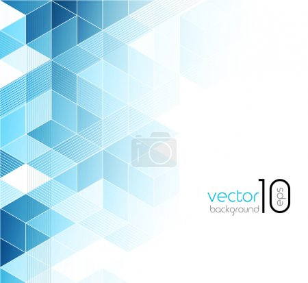 Illustration for Abstract blue cubes vector background. EPS 10 - Royalty Free Image