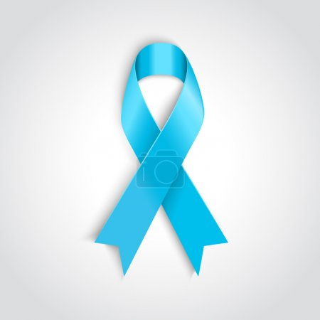Illustration for Vector Light blue ribbon as symbol of prostate cancer - Royalty Free Image