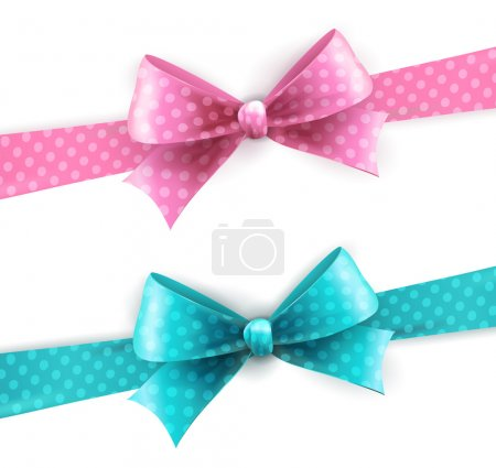 Illustration for Vector  illustration isolated polka dots bow - Royalty Free Image